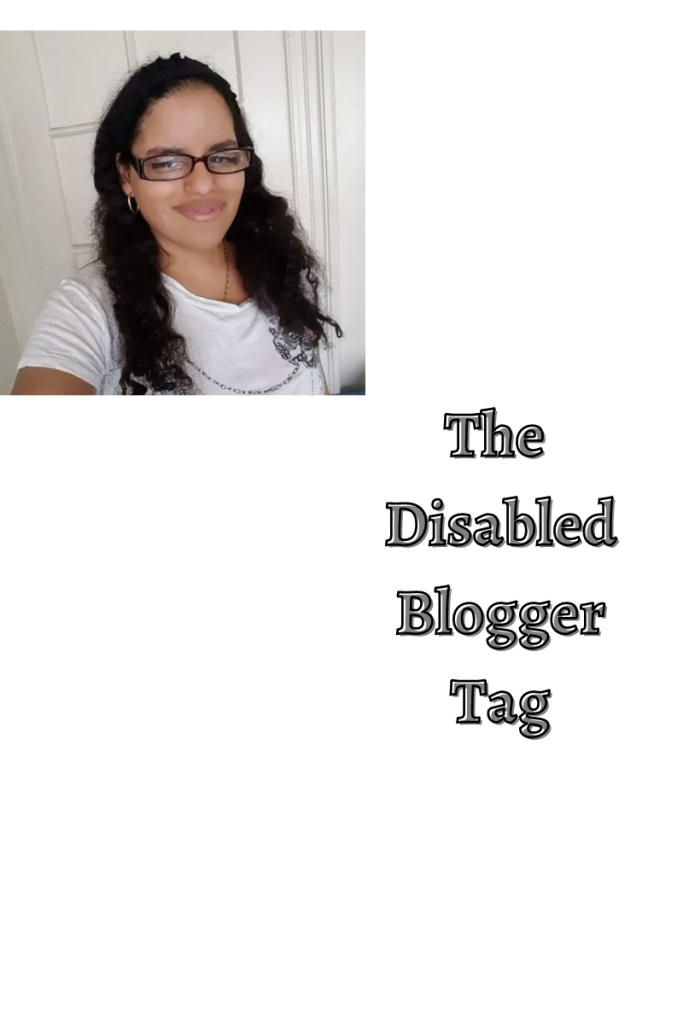 Image shows a photo of me. The text below it reads the disabled blogger tag. The background is white.