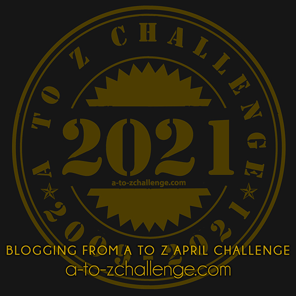 This is an image of the 2021 blogging from a to Z April Challenge badge