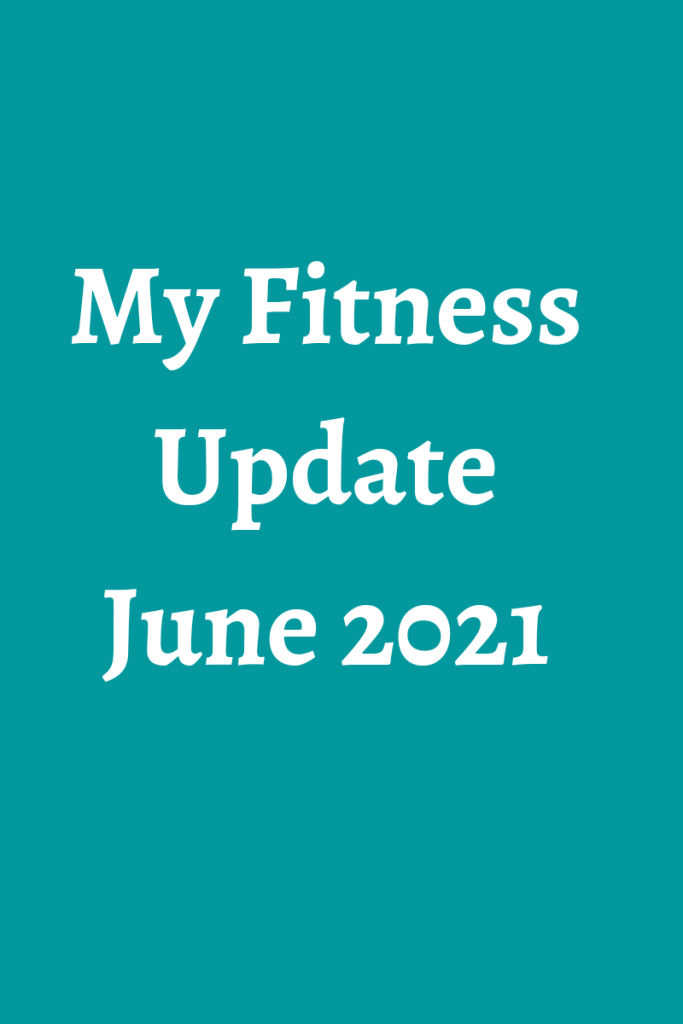 My fitness update june 2021 text is in white on a blue background #fitness #exercise #walking