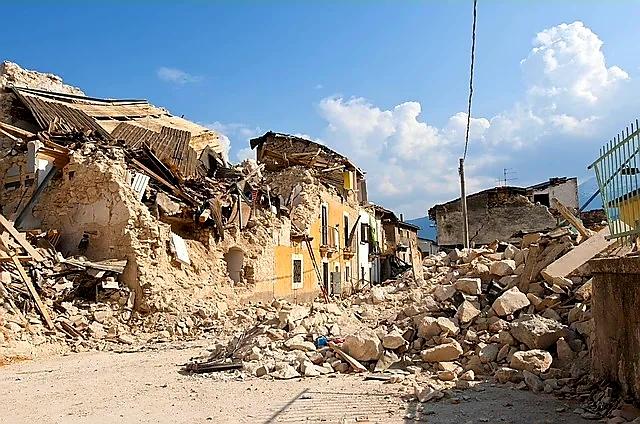 Photo description Image shows destruction rubble in streets