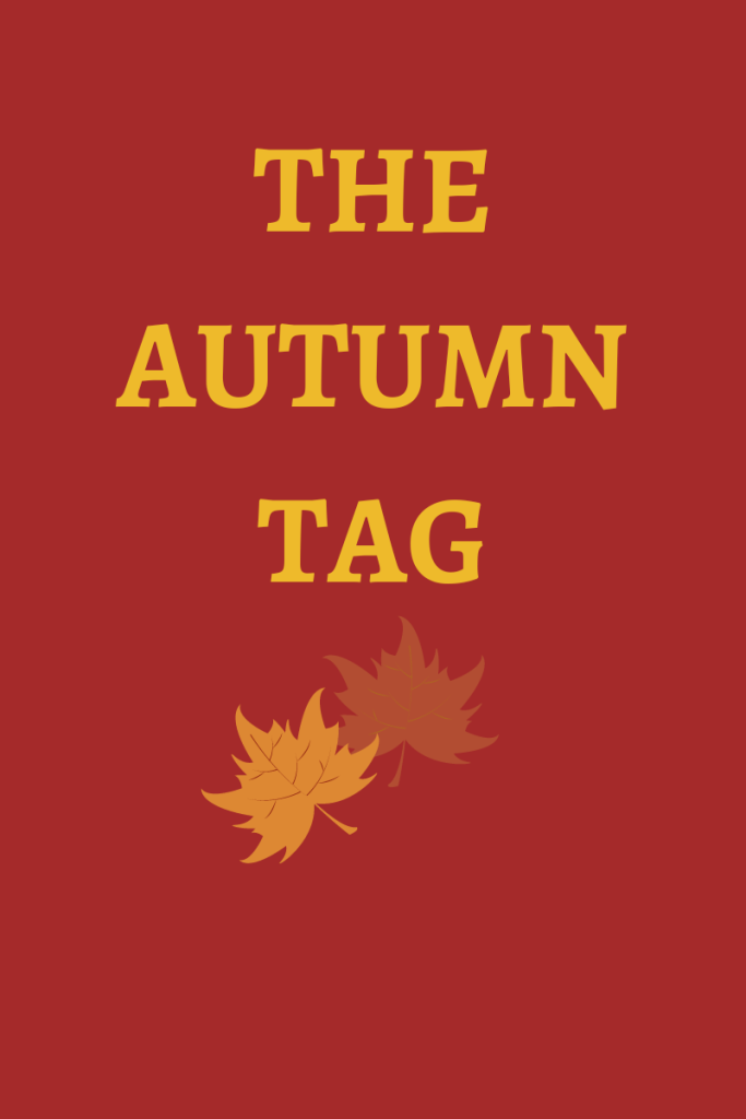 Photo description Text reads the autumn tag. There is a graphic of autumn leaves below the text..